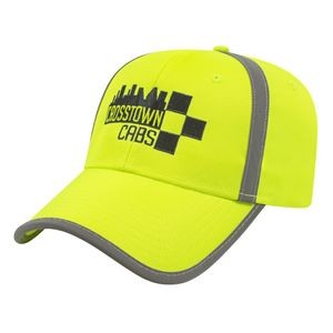 High Visibility Cap w/Reflective Fabric